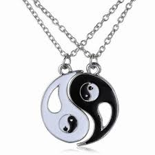 couples necklace traditional taichi pendant couples necklace best friends