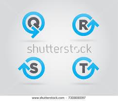 set circle arrow logo icon design stock vector 519542941