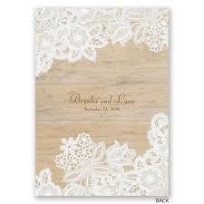 lace invitations wood and lace invitation invitations by