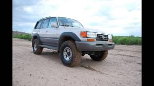 old toyota lifted 1996 land cruiser before u0026 after old man emu lift youtube