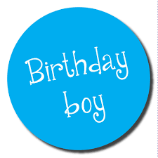 birthday boy birthday boy stickers 60mm great for party organisers