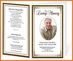 programs for funeral services funeral brochure templates free funeral program format template