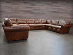 langston leather sectional sofas leathergroups com