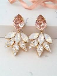 vintage wedding earrings chandeliers blush chandelier earrings blush bridal earrings morganite earrings