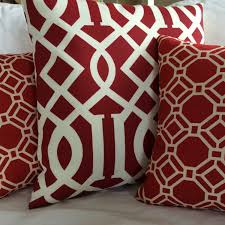 Lumbar Patio Pillows Cherry Red Solarium Indoor Outdoor Throw Pillow Cushion Cover