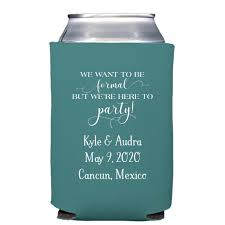 wedding can koozies custom wedding koozies collapsible neoprene my wedding