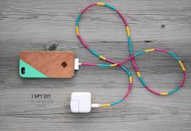 diy phone charger my diy color block cord