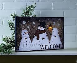 lighted canvas art with timer lighted winter welcome canvas with timer small business