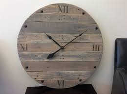 large rustic reclaimed wood clock