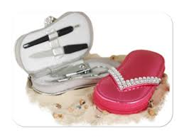 manicure set favors chic party favors rhinestone sandal manicure set