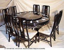 Oriental Dining EBay - Black lacquer dining room set