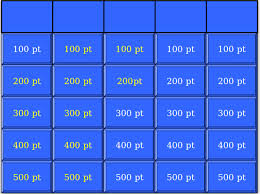 Jeopardy Templates jeopardy free template 7 blank jeopardy templates free sle