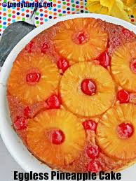 the best eggless pineapple upside down cake so soft rich and