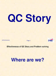 qc story ppt causality standardization