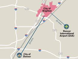 Denver International Airport Map Brighton Economic Development Brighton Co