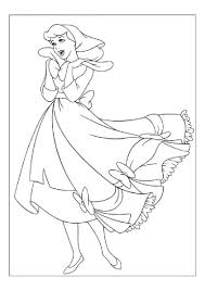 cinderella free coloring pages part 3