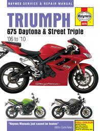 triumph daytona 675 haynes manual