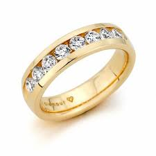 channel set wedding band men s 1 ct t w diamond channel set wedding band in 14k gold h