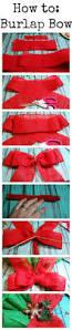 how to make a burlap bow crafts pinterest burlap bows