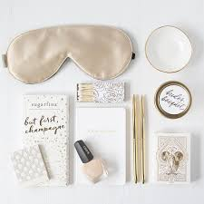chagne gold bridal gift box foxblossom co