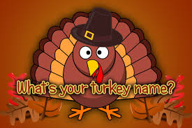 what is your turkey name interactive turkey name generator