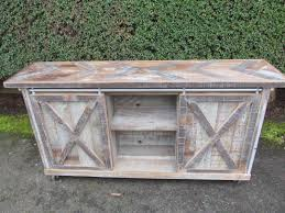 barn door side table custom built sliding barn door cabinets reuse repurpose upcycle