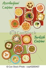 cuisine dinner and azerbaijani cuisine dinner dishes icon
