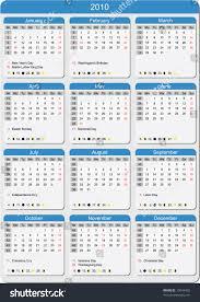 calendar 2010 start week monday week stock vector 15049402