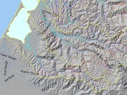 Humboldt State University Map by Area Salmon Creek Topic Map K Stream Gradient Salmon Creek