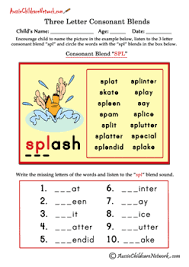 three letter blends beginning consonant blends aussie