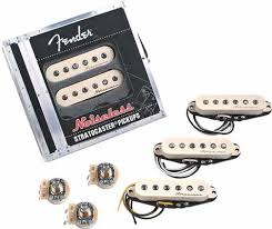 capacitors included with fender noiseless pickups guitar noise