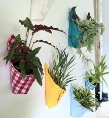 wall plant holders vertical garden made with favorite fabric cloth hanging