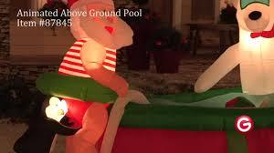 gemmy animated airblown 87845 santa s above ground