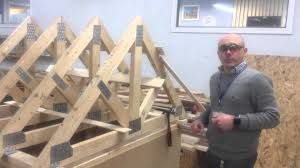 erecting a roof part 2 installing the trusses youtube