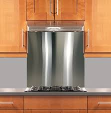 stainless steel kitchen backsplash amazon com stainless steel backsplash 30 x 36 304 4 hemmed