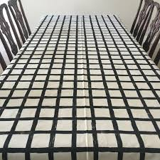 windowpane tablecloth black and white tablecloth thanksgiving
