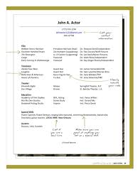 How To Acting Resume Child Actor Resume 20 Acting Template Free How To Write An With No