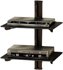 wall mounted component shelves sonax wall mount component shelf black the brick