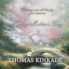 hallmark thomas kinkade mother u0027s day ecard beautiful artwork and