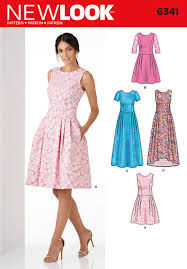 6341 new look pattern ladies day or special occasion dress with