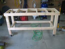 garage workbench diy workbench with simpson strong tie kit build
