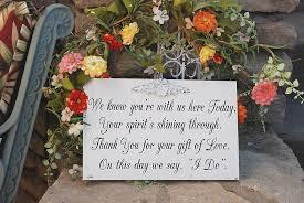 memorial ideas wedding memorial ideas