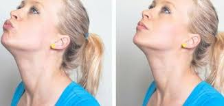 how to make a double chin look less noticable eith hair how to lose face fat with 7 simple exercises