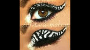 Zebra Halloween Makeup by Zebra Eyes Makeup Tutorial Youtube