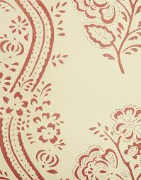 red floral wallpaper traditional french wallpaper