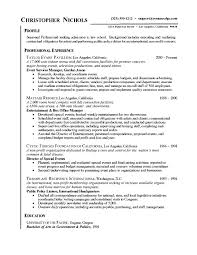 Sample Resumes For Management by Events Manager Resume Example Sample Event Planner Resumes