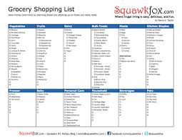 printable household shopping list printable grocery shopping list squawkfox