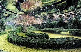 green bureau bureau betak conjures an enchanted garden for s