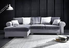sofa mit bettkasten und schlaffunktion ecksofa mit schlaffunktion u bettkasten 310x106x74 90 grau deluxe