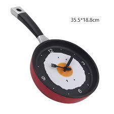 horloge cuisine la conception spéciale et frit pan horloge en plastique